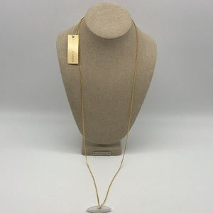 Sylvia Benson Gold-Tone And White Stone Necklace